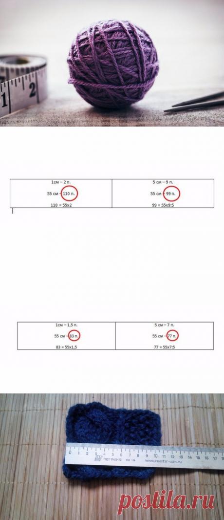 Как легко рассчитать петли перед вязанием (Уроки и МК по ВЯЗАНИЮ) – Журнал Вдохновение Рукодельницы