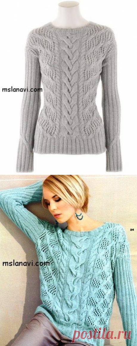 Ажурный пуловер от Iris Von Arnim - Вяжем с Лана Ви