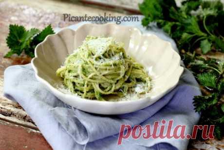 Спагетті з соусом песто з кропиви | Picantecooking