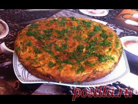 Пирог с Капустой/Заливной Капустный Пирог/Cabbage Pie/Простой Пошаговый Рецепт Пирога с Капустой