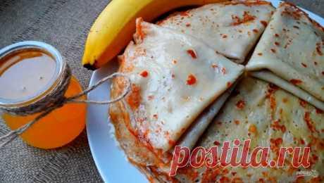 Блины из банана - пошаговый рецепт с фото на Повар.ру