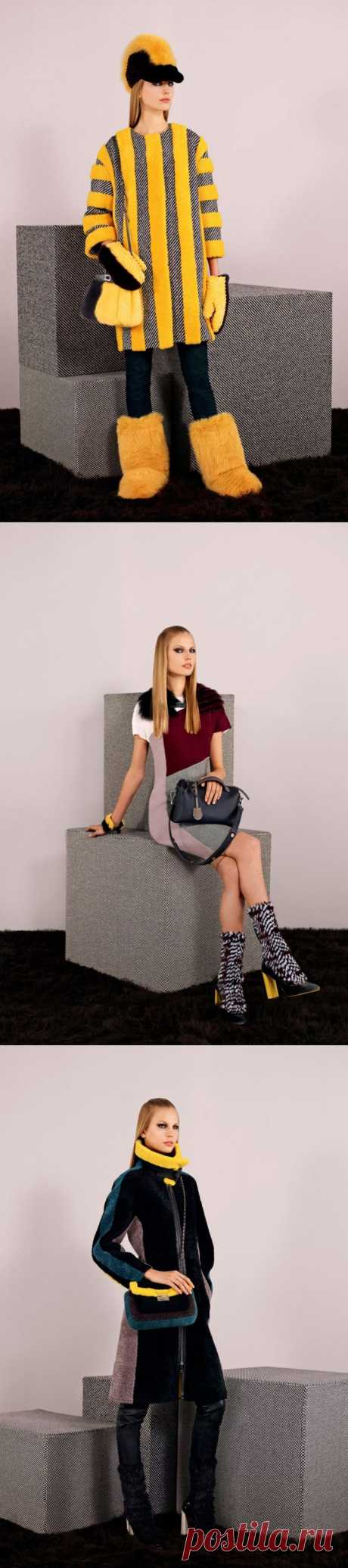 Меховые фантазии от модного дома Fendi и Карла Лагерфельда в коллекции pre-fall Fendi 2014