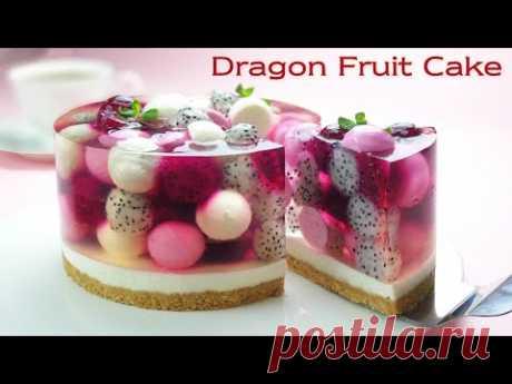 Рецепт чизкейка без духовки / без яиц / Красивое фруктовое желе / Мера чашки / Fruit Jelly Cake