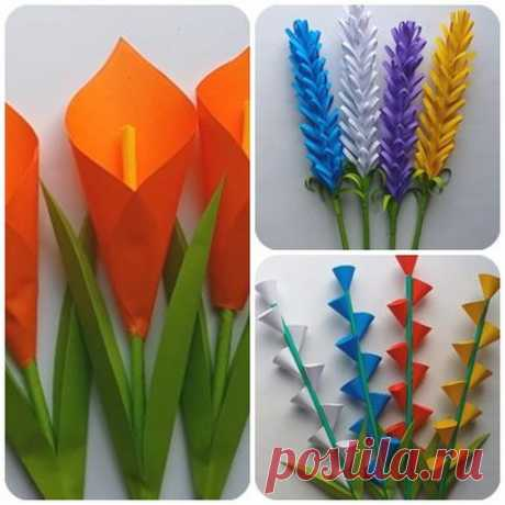 Подарок на 8 Марта своими руками — красивые цветы из бумаги как настоящие