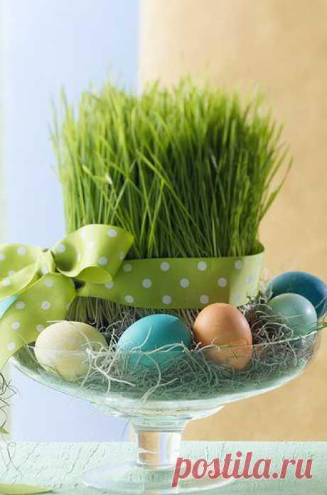 Декор пасхальных яиц.