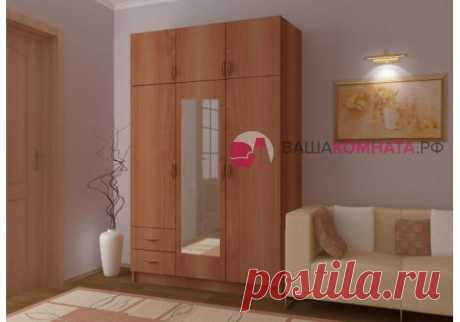 Шкаф 3-створочный с 2-мя ящиками купить в СПб, цены от интернет-магазина Yourroom.ru