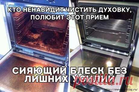 Как очистить духовку без лишних усилий!