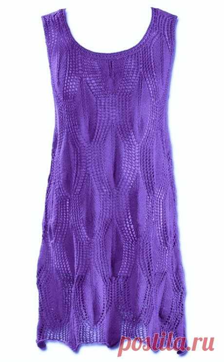 Платье-туника спицами схема. Как связать платье-тунику спицами | Я Хозяйка