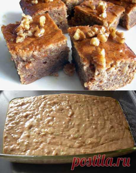 рецепт кабачкового пирога,   наверняка понравится любителям восточных сладостей.