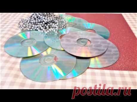 Старые  CD  ДИСКИ - драгоценность ! НИКОГДА НЕ ДОГАДАЕТЕСЬ, ЧТО Я СДЕЛАЛА - зимние украшения...