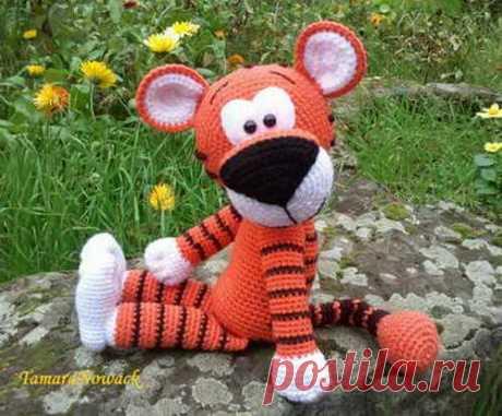 Мягкая игрушка тигр — схема вязания крючком. | Укрась свой мир!