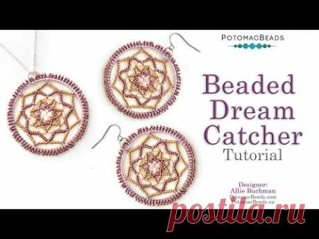 Beaded Dream Catcher - DIY Jewelry Making Tutorial by PotomacBeads