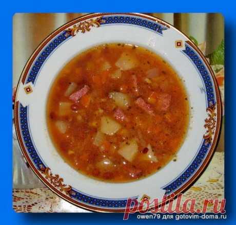 Айнтопф-немецкий суп с копченостями | Четыре вкуса