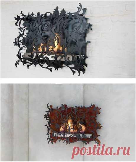 Декоративный настенный огонь