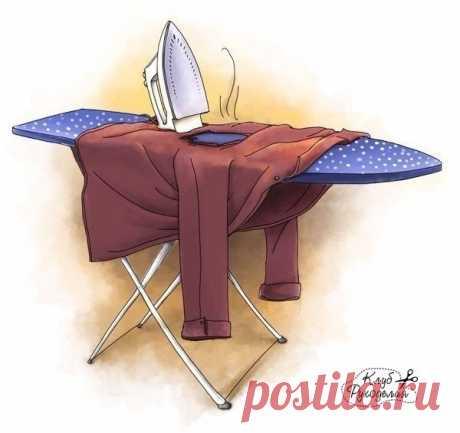 Как погладить вещи без утюга?  Берем в равных пропорциях: 1 часть 9 %-ного уксуса; 1 часть воды; Показать полностью…