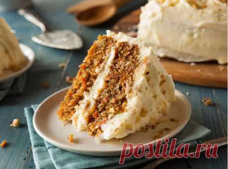 Десерт выходного дня: морковный торт | Marie Claire