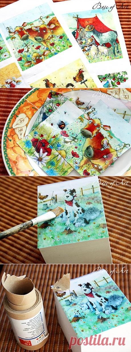 Инструкция по работе с декупажными картами: мастер-класс для начинающих - Ярмарка Мастеров - ручная работа, handmade
