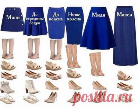 Основные правила выбора обуви под юбки разной длины... Как хорошо, что я об этом узнала!  Юбка – самый женственный предмет одежды. В гардеробе каждой  женщины она играет немаловажную роль. Создавая определенный образ, с  помощью юбки можно выглядеть строго или игриво, романтично или  элег…