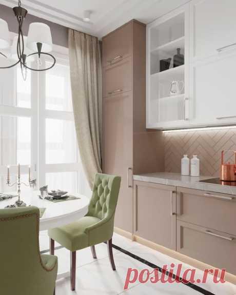 Стильная кухня 10 кв.м. Как вам решение?