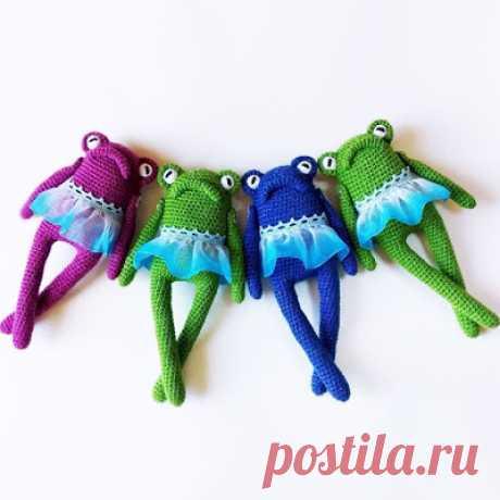 1000 схем амигуруми на русском: Лягушка Мэри крючком