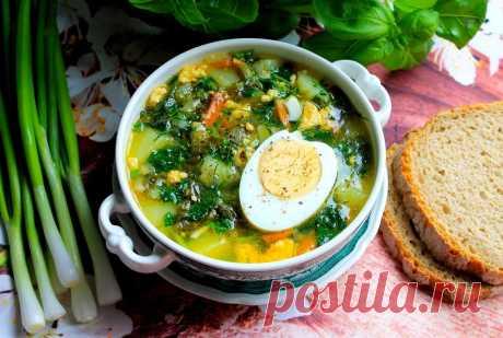 Суп из щавеля и крапивы с яйцом рецепт с фото пошагово - 1000.menu