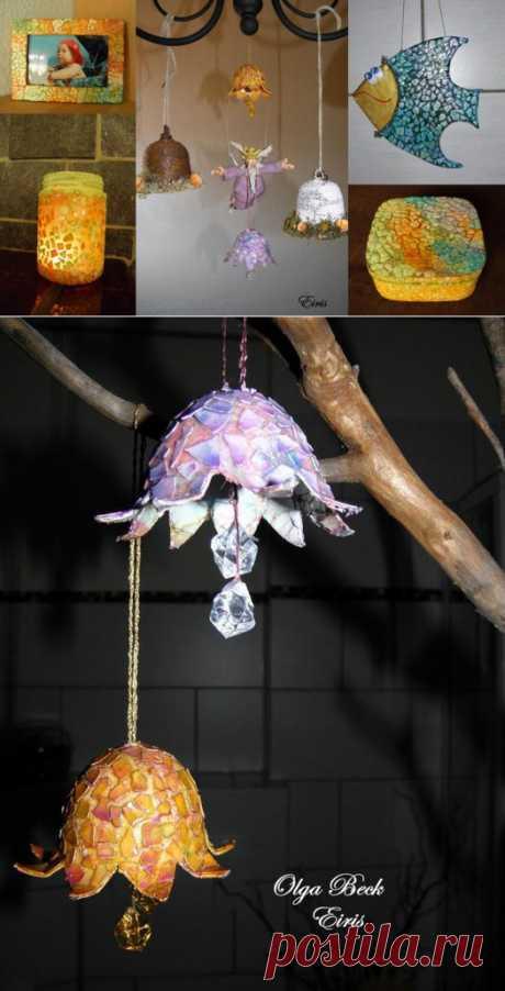 МК. Волшебная яичная скорлупа и что можно из нее сделать. 2 Часть..