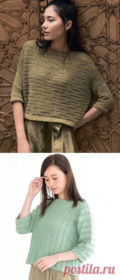 Нежный джемпер из японского журнала с приятным узором + несколько моделей для тех, кто ищет несложные конструкции. | Asha. Вязание и дизайн.🌶 | Яндекс Дзен