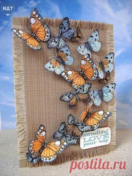 Запись на стене Идеи для декора бабочками