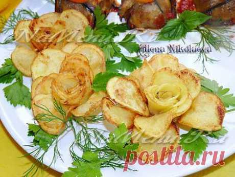 Розы из картофеля