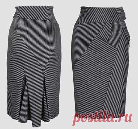 Элегантная юбка в полоску - шьем сами