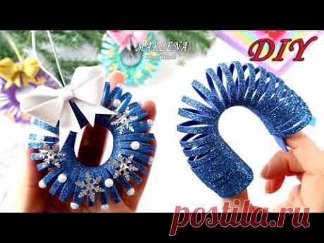 ✨Потрясающие Новогодние игрушки из фоамирана! 🎄 Легко и оригинально