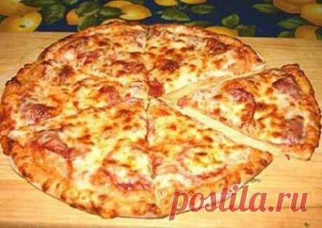 Пицца на кефире   Домашняя кулинария