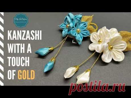 D.I.Y. Kanzashi with a Touch of Gold | MyInDulzens