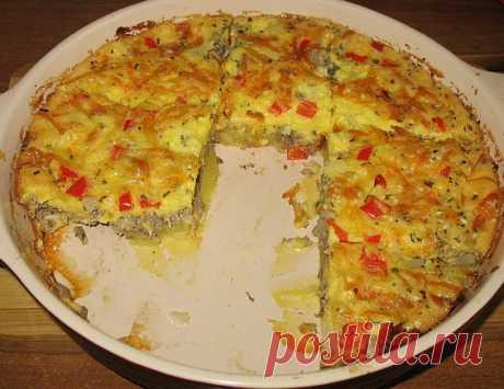 Пирог из рыбной консервы с картошкой: вкус не подведет, поверьте!