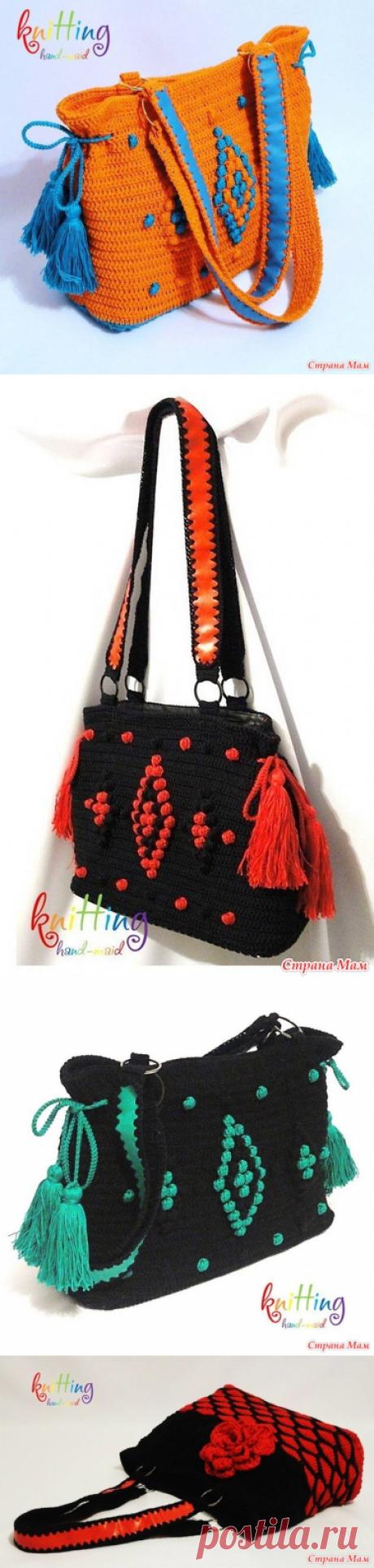 Вязаные сумки актуальны не только жарким летом... Часть 2 - Вязание - Страна Мам