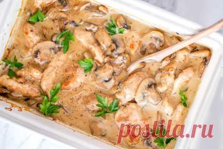 Цыпленок в сливках — Кулинарный босс