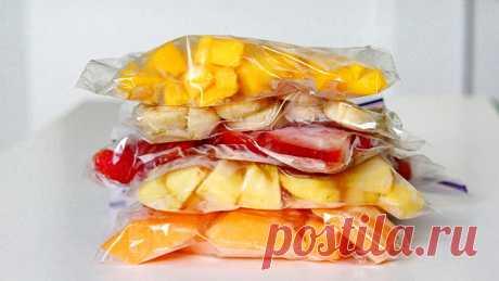 Правила заморозки разных фруктов на зиму