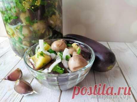 Баклажаны по-корейски с грибами. Закуска под все! Сегодня поделюсь с вами рецептом закуски из баклажанов и грибов по-корейски. Это аппетитная, быстрая закуска подходит к любым блюдам: мясу, птице, рыбе или даже к молодой картошечке, для тех кому и мя...
