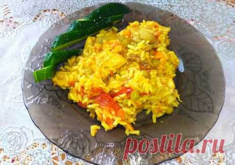 Паэлья с курицей и зелёным горошком рецепт с фото пошагово Паэлья с курицей и зелёным горошком - пошаговый кулинарный рецепт приготовления с фото, шаг за шагом.
