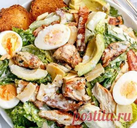 3 интересных салата с курицей | Поделки, рукоделки, рецепты | Яндекс Дзен