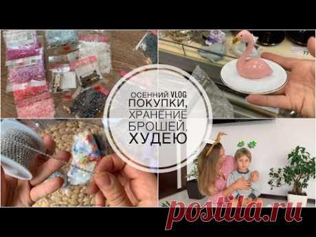 Осенний ВЛОГ | худею | хранение брошей | покупки Fix Price, Леонардо, AliExpress | печём кексы