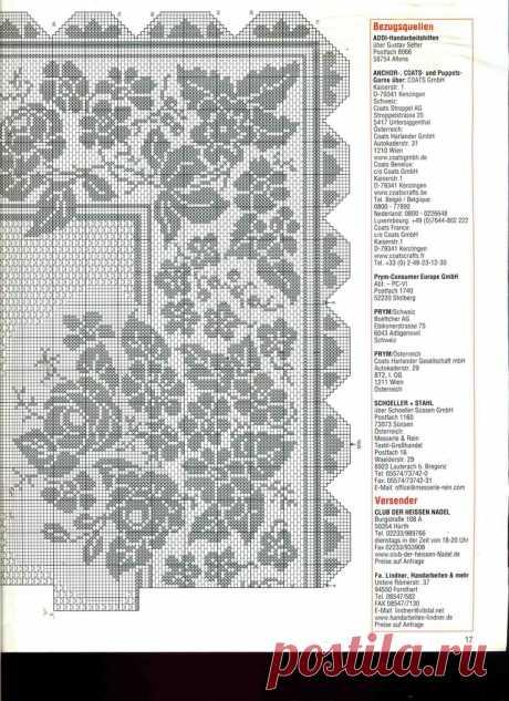 Схемы для вязания крючком: РОЗЫ