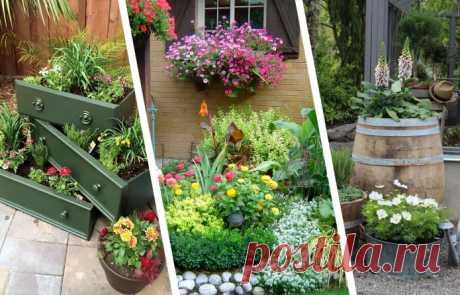 Красивые идеи клумб во дворе частного дома Покажем подборку вдохновляющих идей для оформления клумбы частном доме.
