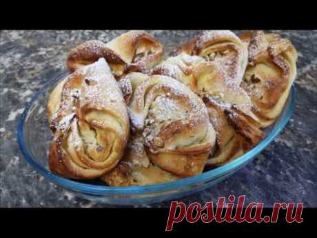 Булочки с орехами со сливочным вкусом...Угощайтесь, вам обязательно понравится! - YouTube