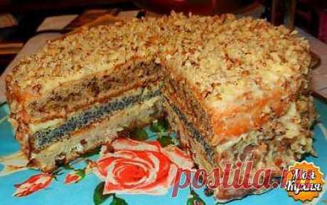 Популярный трехслойный домашний торт ☕➩➩➩...Показать Полностью.