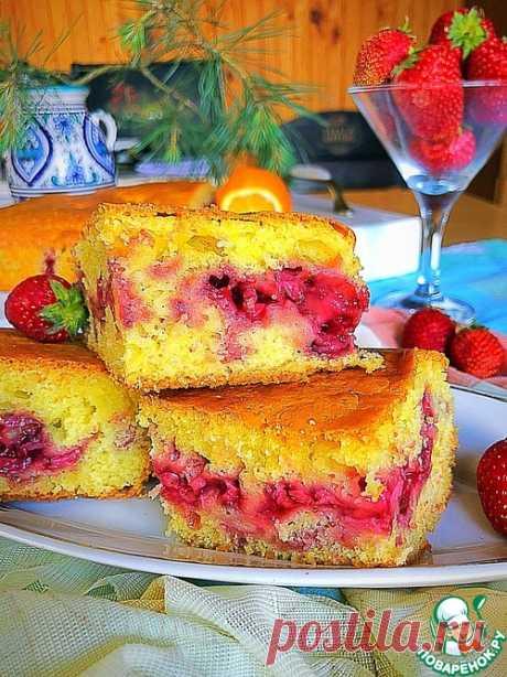 Клубничный пирог «Потрясающий» – кулинарный рецепт