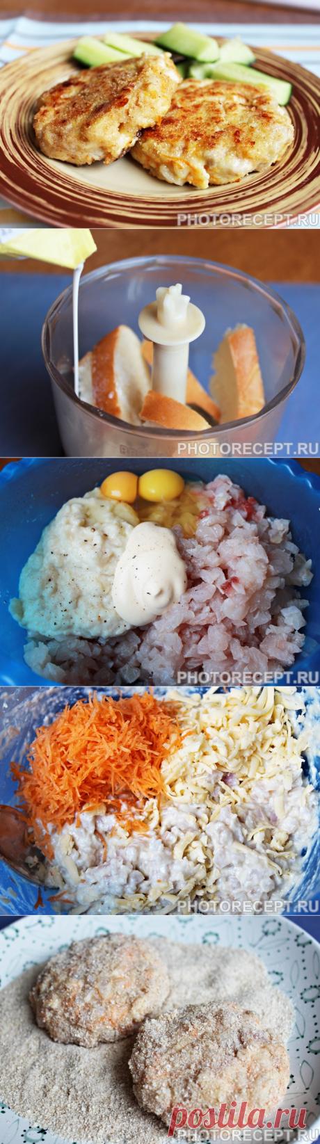 Rublennye las croquetas de pez con la zanahoria y el queso - la receta de la foto poshagovo