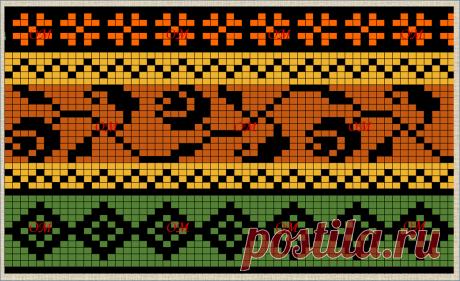 20 жаккардовых схем с цветочными мотивами для вязания или вышивания | Про мои рукоделочки и вкусняшки | Яндекс Дзен