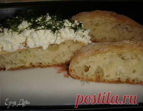 Итальянский хлеб чиабатта. Ингредиенты: мука, сыворотка, соль | Официальный сайт кулинарных рецептов Юлии Высоцкой