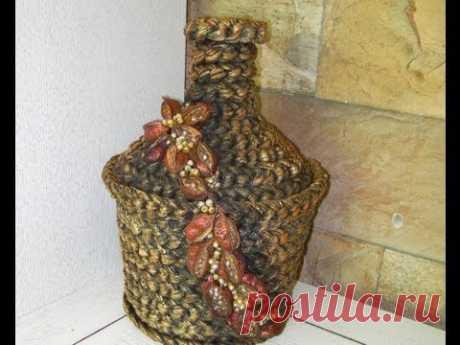 Декоративные чаши и сосуды из ветоши.